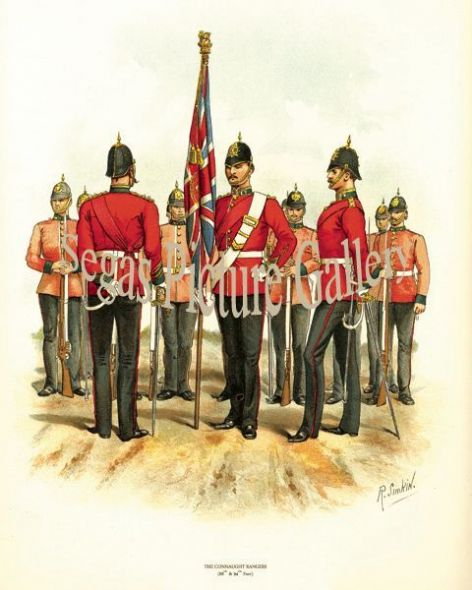 Fine art print of the British Military of The Connaught Rangers (88th and 94th Foot) by Richard Simkin